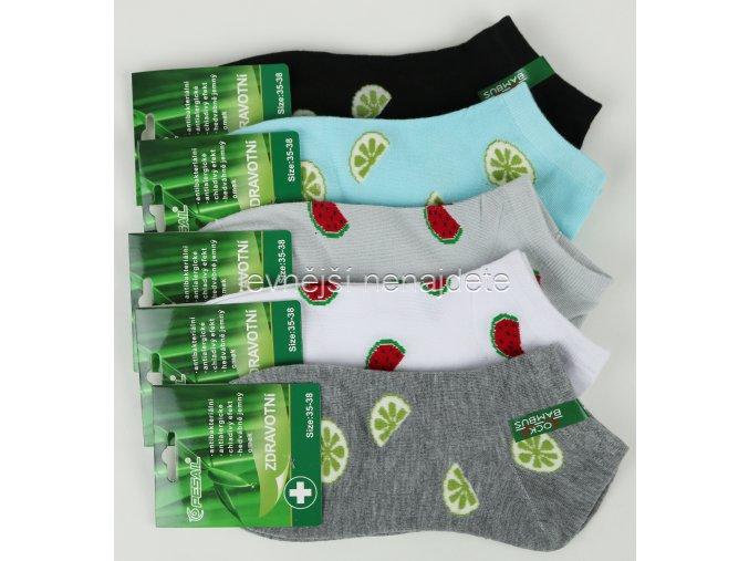 Dámské bambusové zdravotní kotníkové ponožky X58W 3 páry