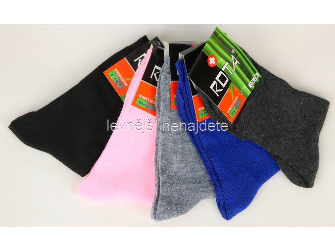 Dámské bambusové ponožky C350Z 5 párů