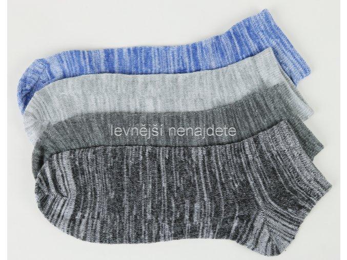 Pánské kotníkové ponožky melír 3 páry (sport)