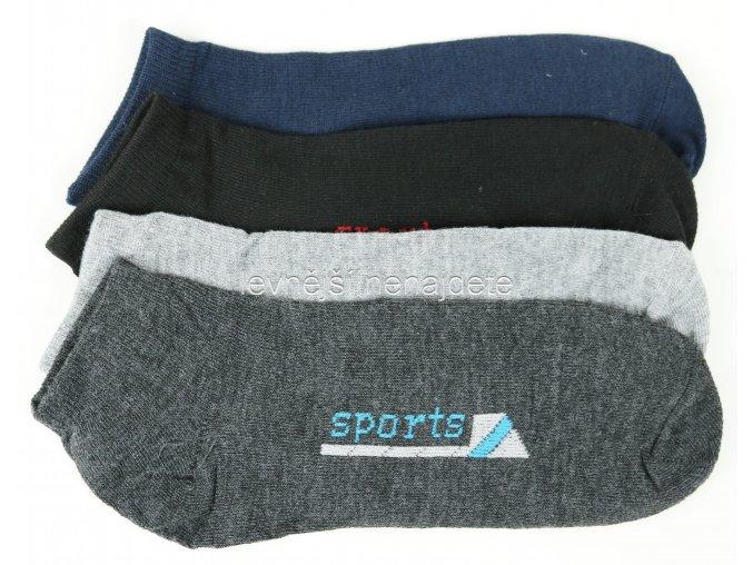 Pánské kotníkové bavlněné ponožky sports 3 páry