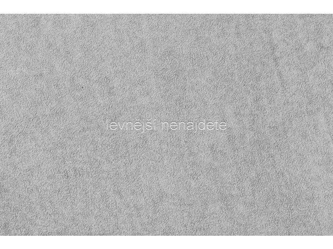 Froté prostěradlo světle šedé 90x200 cm