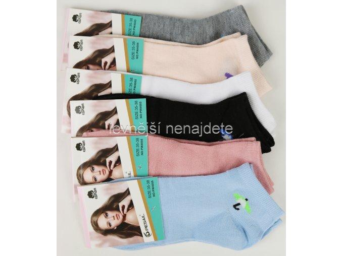 Dámské bavlněné kotníkové ponožky P05W 3 páry