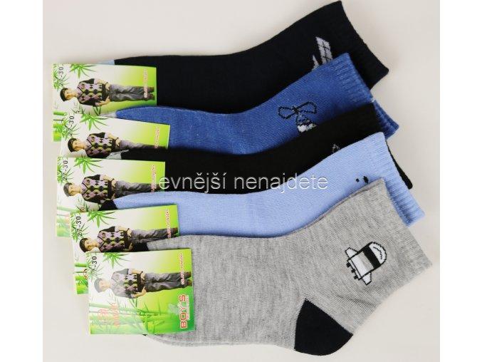 Chlapecké bambusové ponožky 3 páry