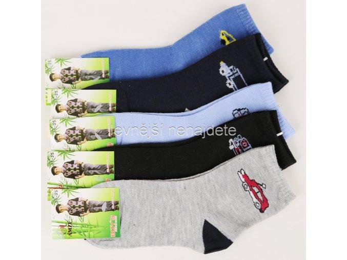 Chlapecké bambusové ponožky 3 páry vel