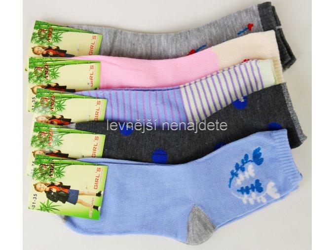 Dívčí  bambusové ponožky 3 páry vel