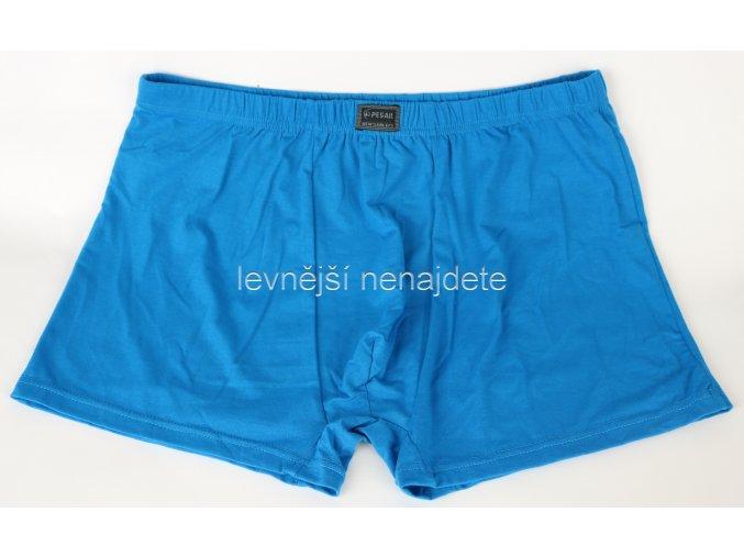 Bavlněné boxerky nadměrné  modré