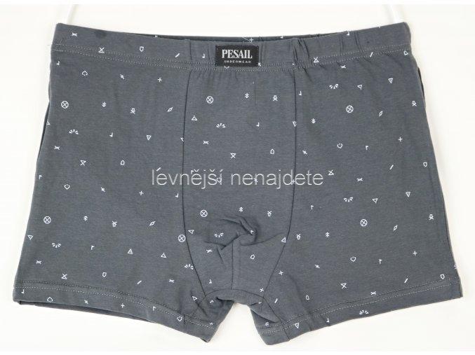 Bavlněné boxerky vzor šedé