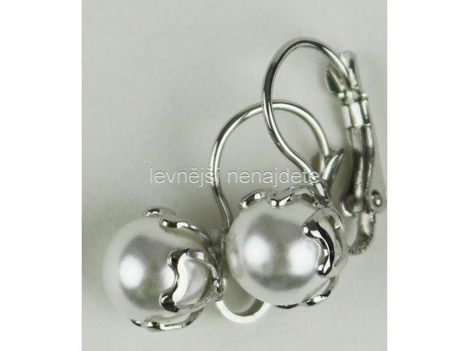 Náušnice visací s perličkou