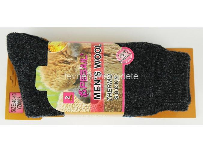 Pánské vlněné termo ponožky 2 páry