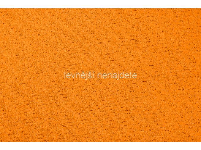 Froté prostěradlo oranžové 180x200 cm