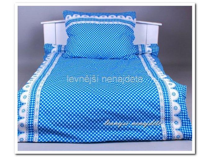 Bavlněné povlečení 2 kusy Kanafas krajka modrá 2 x 140 x 200 2x 70 x 90