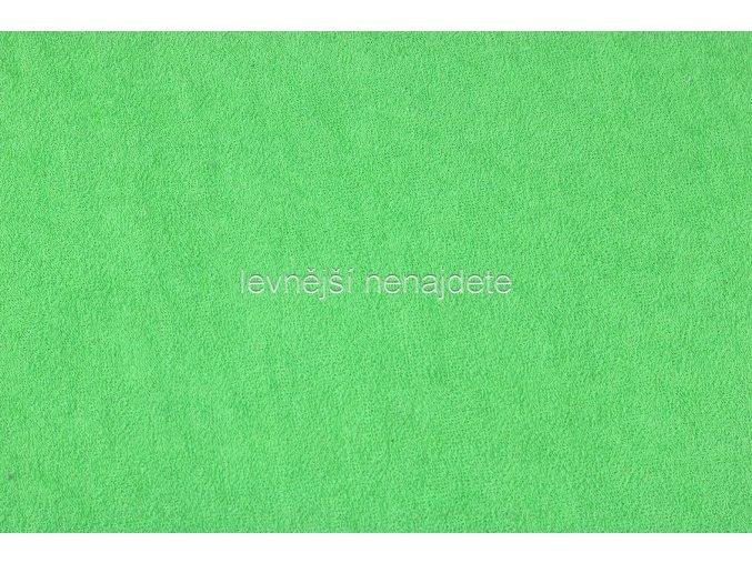 Froté prostěradlo hráškově zelené 200x220 cm