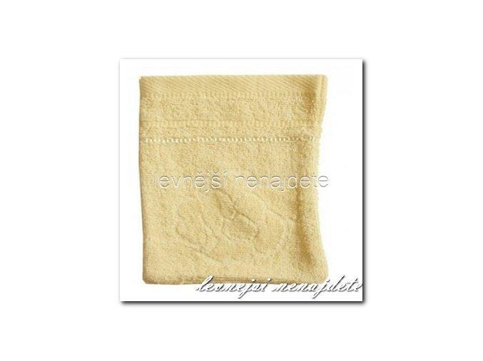 Froté žínka žlutá, 15 x 23