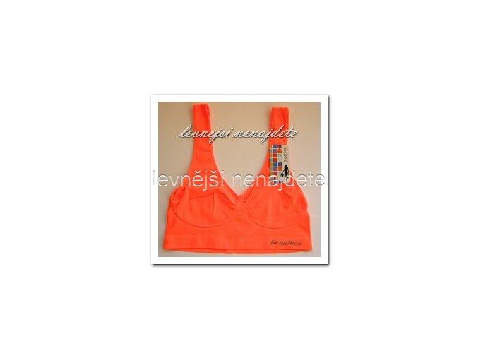 Sportovní podprsenka oranžová