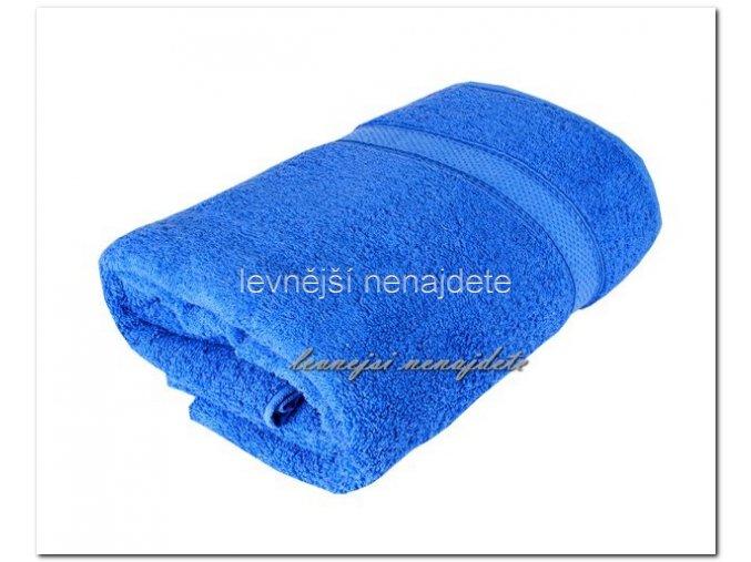 Froté osuška modrá 70 x 140 cm