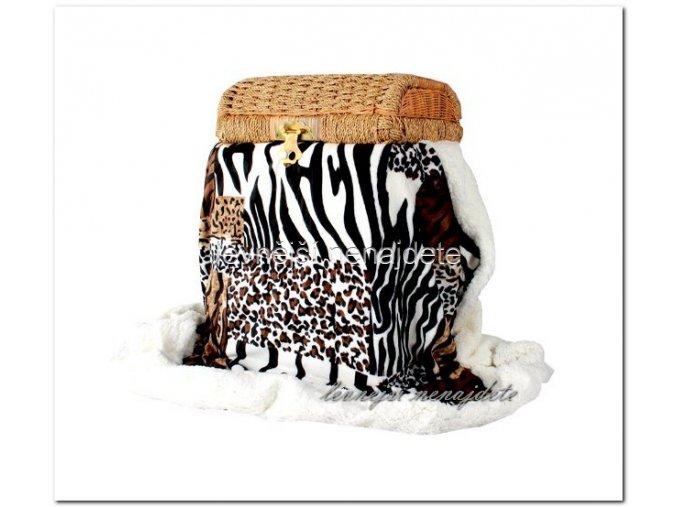 OBOUSTRANNÁ DEKA MIKROVLÁKNO SAVANA 150 X 200 cm  (zebra)