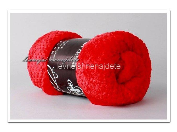 Deka mikrožakar červená 150 x 200