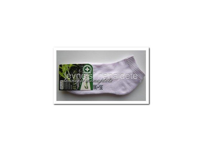 Dámské bambusové termo kotníkové ponožky bílé