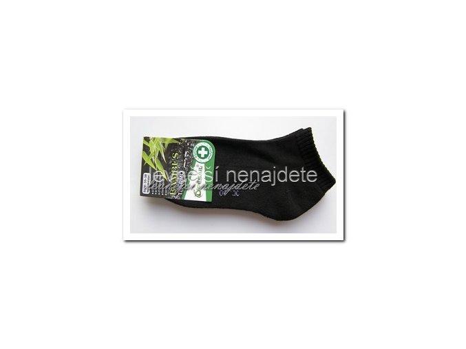 Dámské bambusové termo kotníkové ponožky černé