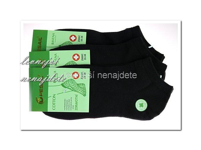Dámské zdravotní kotníkové ponožky černé