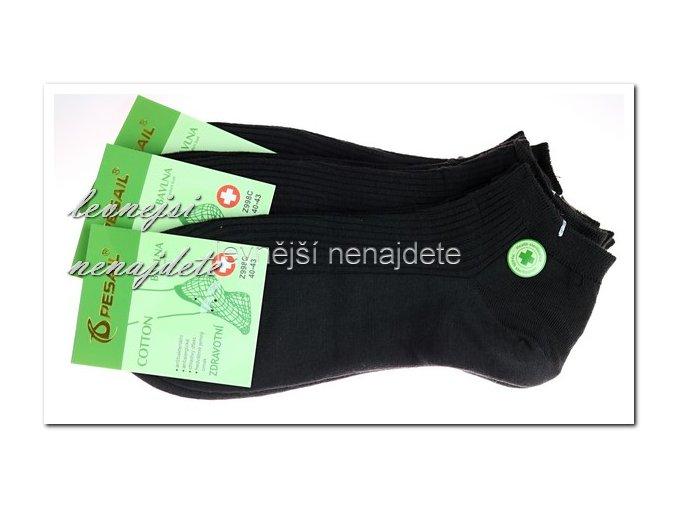 Dámské zdravotní kotníkové ponožky černé 3 páry