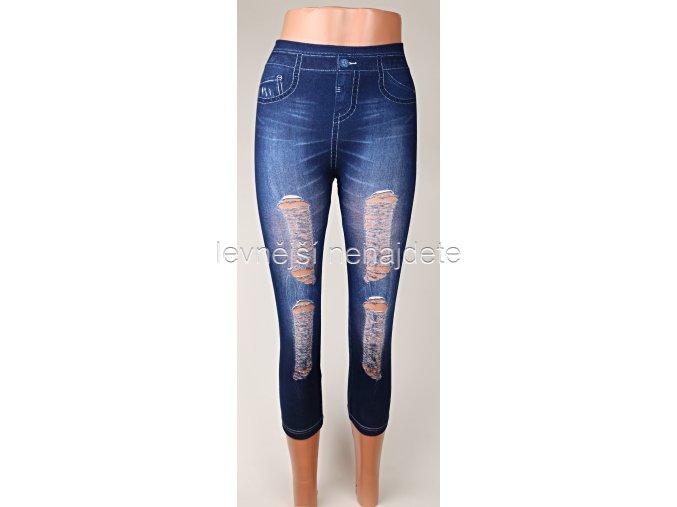 Dámské bambusové 3/4 legíny jeans