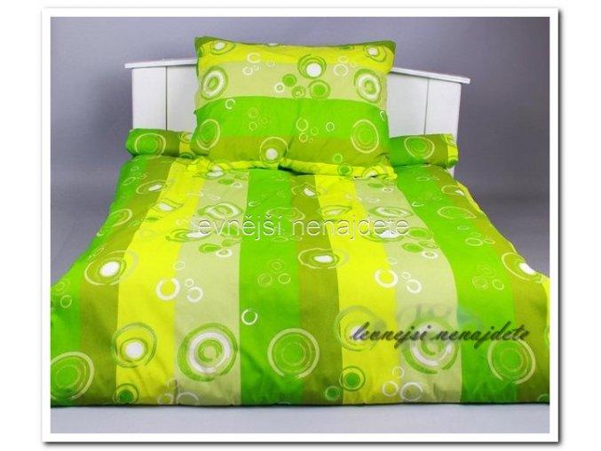 Bavlněné povlečení - Bublina zelená 140 x 200 70 x 90