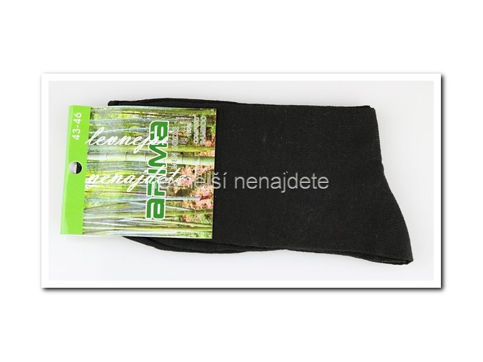 Pánské bambusové ponožky černé