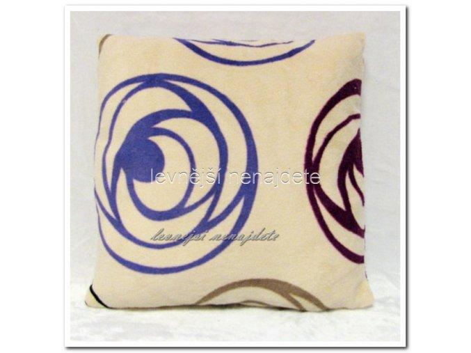 Povlak na polštářek mikroplyš KLUBÍČKO 40 x 40