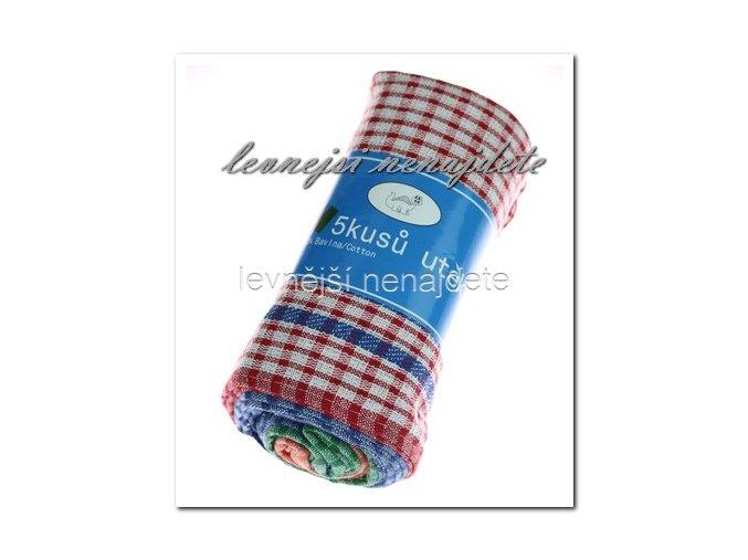 Kuchyňské utěrky bavlna 5 ks, 59 x 39 cm