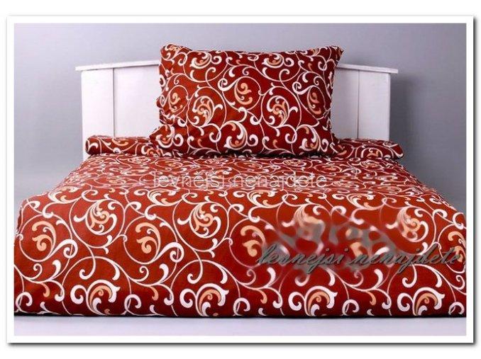 Bavlněné povlečení na 2 postele ORIENT HNĚDÝ 2 x 140 x 200 2x 70 x 90