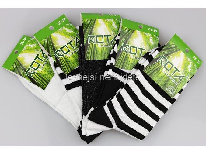 Dámské bambusové ponožky pruhy 5 kusů