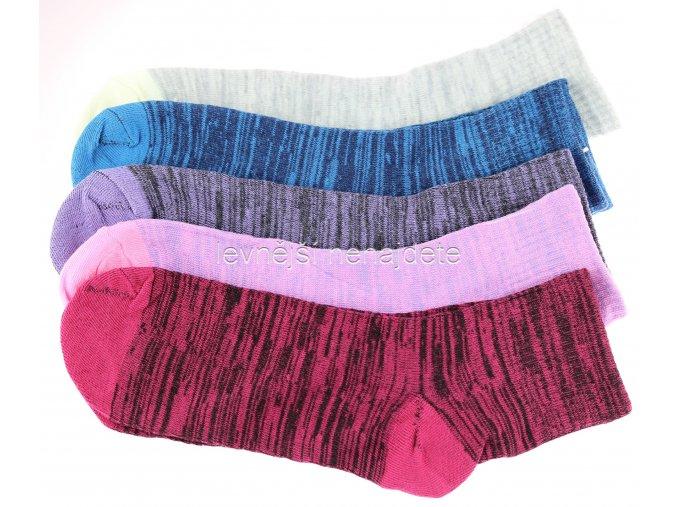 Dámské bavlněné ponožky melír 3 páry