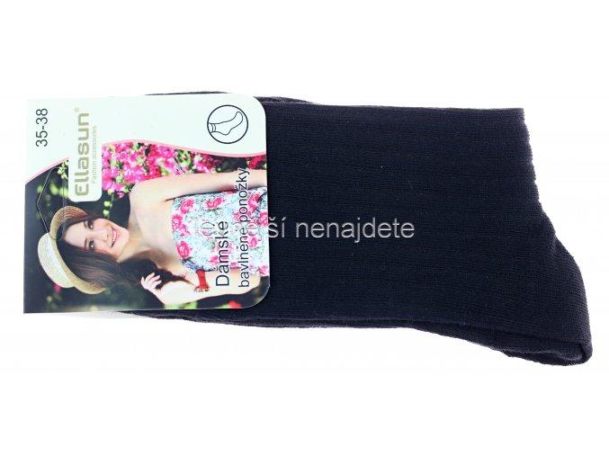 Dámské bavlněné ponožky černé