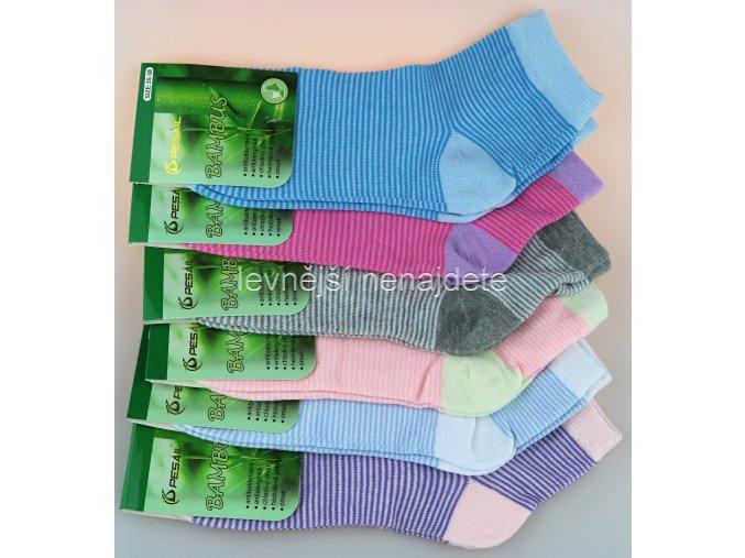 Dámské bambusové kotníkové ponožky prou 3 páry