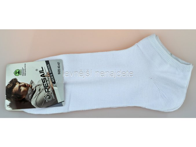 Pánské kotníkové ponožky bílé