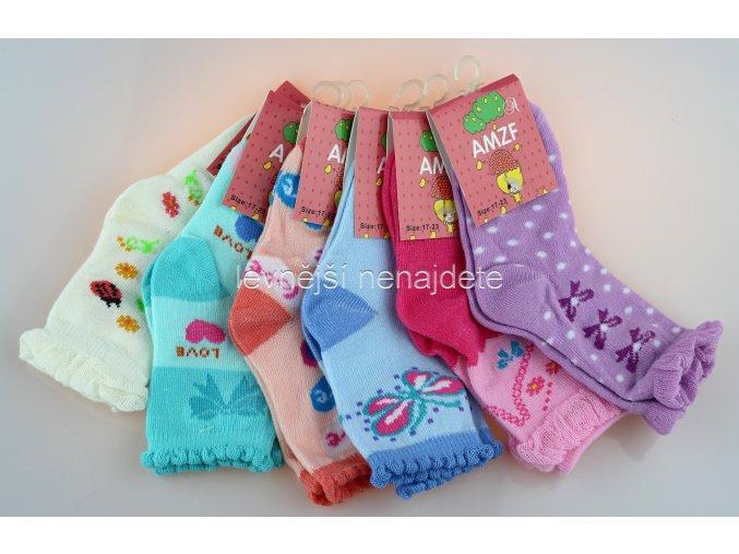 Dívčí bavlněné ponožky AM 3 páry