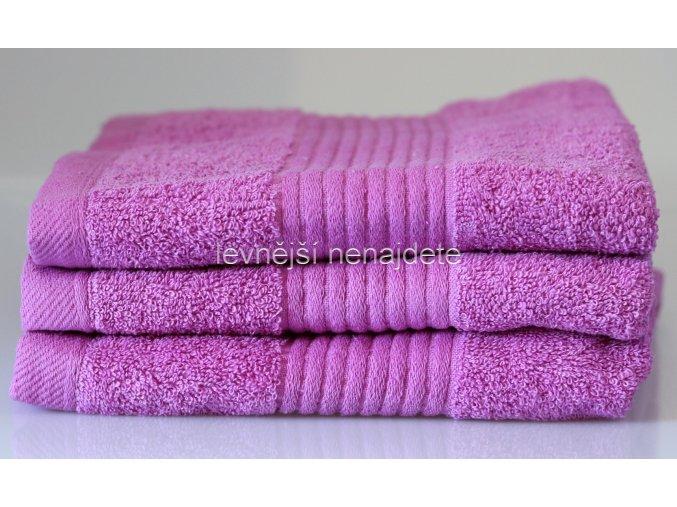 Froté ručník nachový 46 x 95 cm