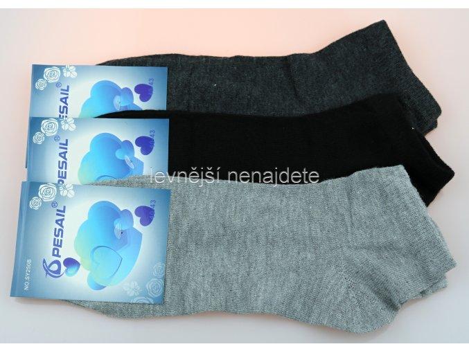 Pánské kotníkové ponožky bar 3 páry