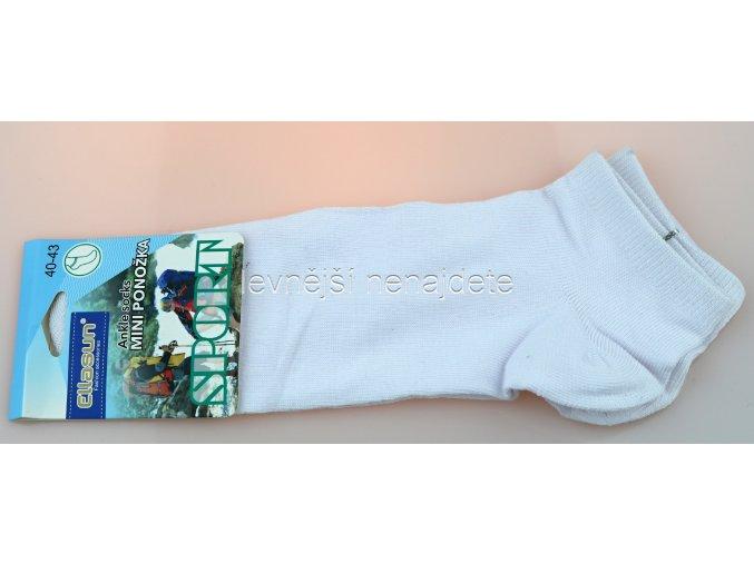 Pánské kotníkové bavlněné ponožky bílé