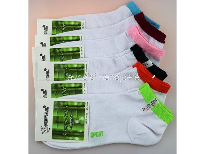 Dámské bambusové kotníkové ponožky WS 3 páry