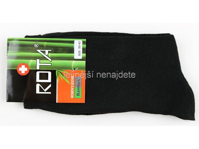 Dámské bambusové ponožky černé