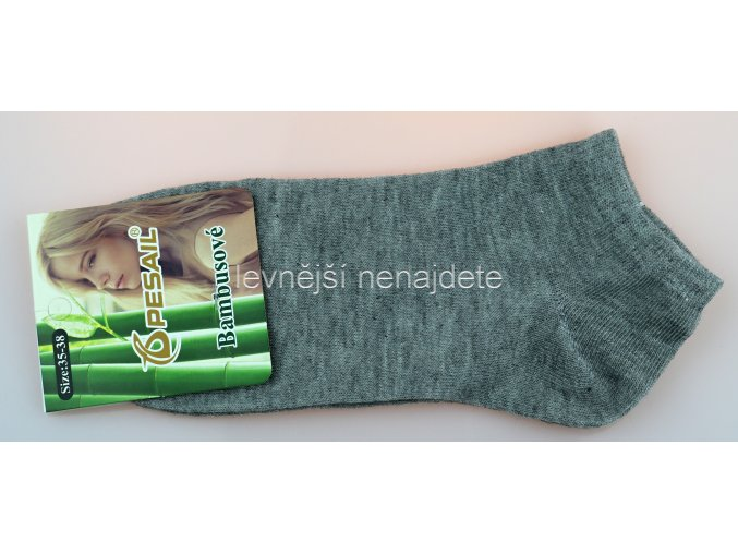 Dámské bambusové kotníkové ponožky šedé