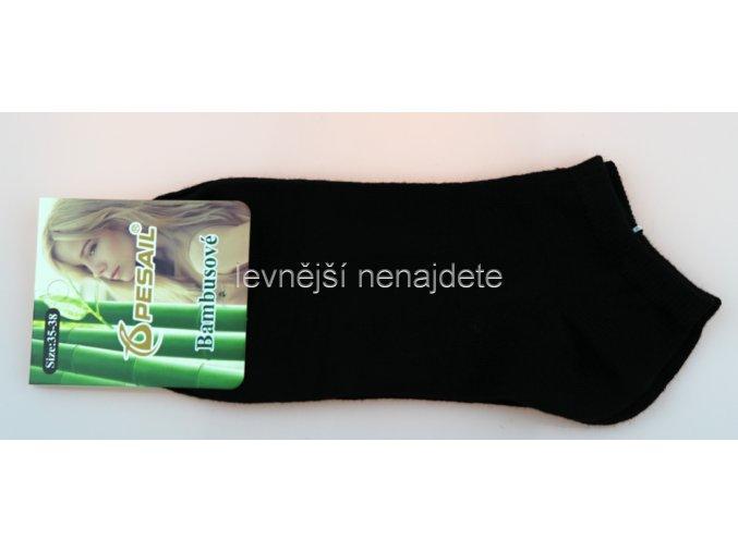 Dámské bambusové kotníkové ponožky černé