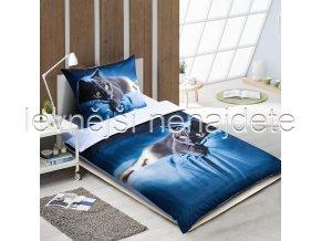 Ložní 3D Modrá kočka