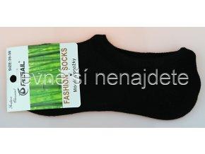 Bambusové krátké ponožky černé