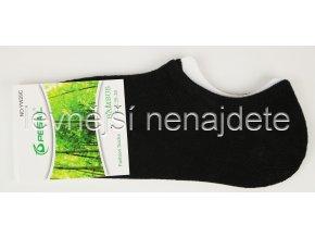 Bambusové dámské krátké ponožky černé
