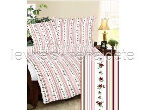 Krepové povlečení  MAYA- růžová 140 x 200 70 x 90