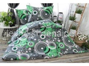 Bavlněné povlečení na dvě lůžka ŠÁRKA - zelená 2 x 140 x 200 2x 70 x 90