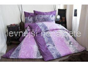 Bavlněné povlečení na dvě lůžka ORNELA - fialová 2 x 140 x 200 2x 70 x 90